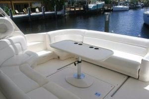 sea ray outside seating for st Thomas boat rental & charter