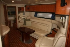 sea ray salon at Sonic Boat Charters