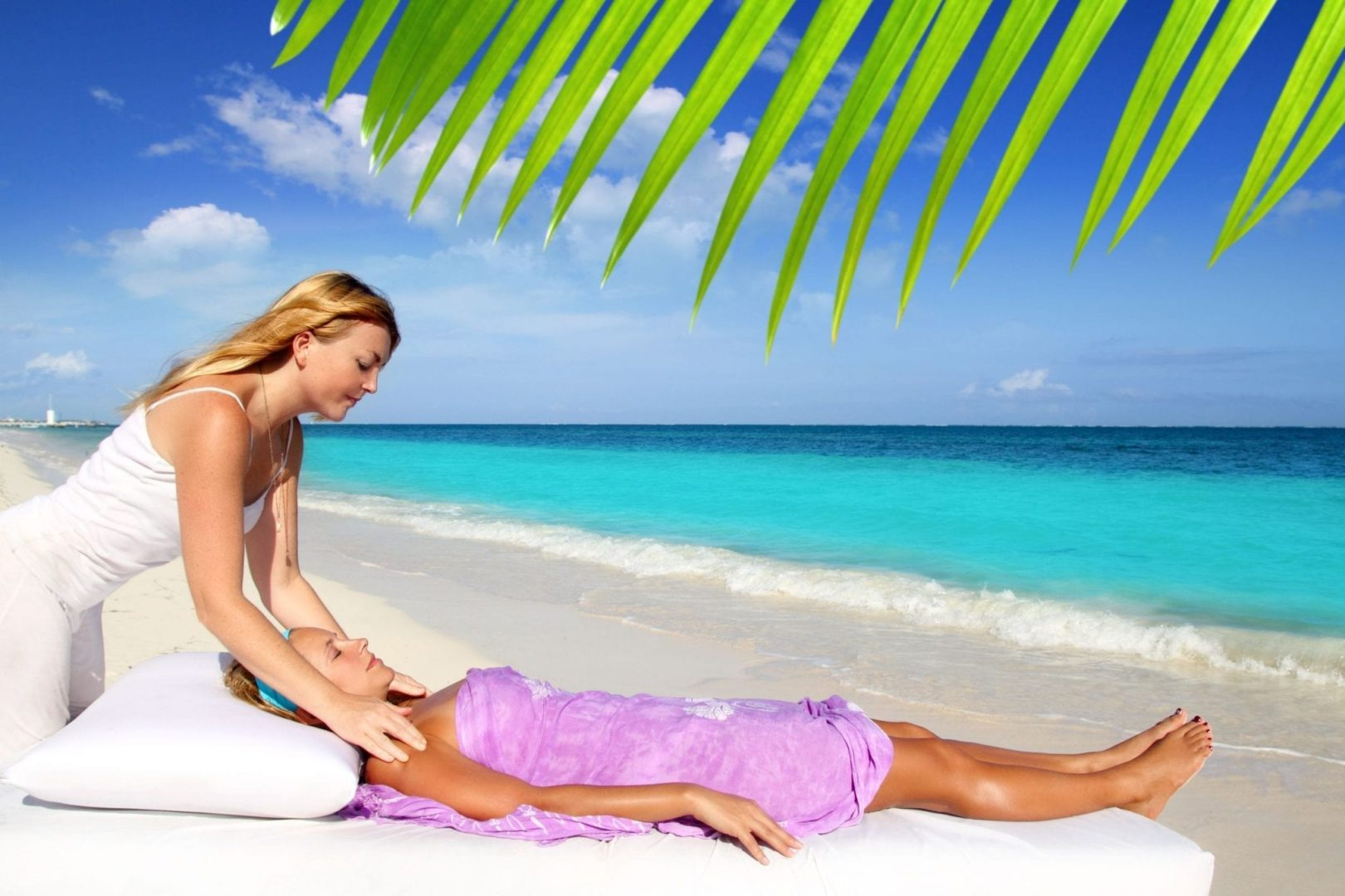 massage on the beach in the virgin islands